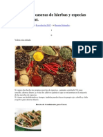 13 Mezclas Caseras de Hierbas y Especias Para Sazonar