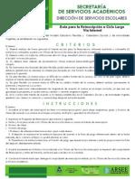 Guía Para La Reinscripción A Ciclo Largo Vía Internet