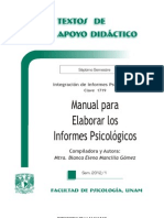 Manual para Elaborar los Informes Psicol+¦gicos - Blanca Elena Mancilla G+¦mez -TAD - 7-¦ Sem-b