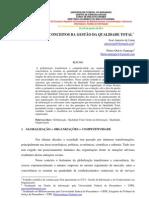 OS PRIMEIROS CONCEITOS DA GESTÃO DA QUALIDADE TOTAL