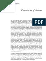 7277045 Irving Wohlfarth Presentation of Adorno