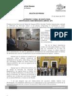01/03/13 IV Centenario y Zonal de Santa Rosa, Certificados Como Mercados Limpios