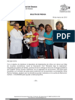 09/03/13 Germán Tenorio Vasconcelos Entrega Asociacion Civil Morando Bajo La Esperanza Apoyos Al Hospital Civil