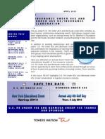 April 2013 Newsletter 4-29-13