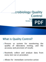 Microbiology Quality Control