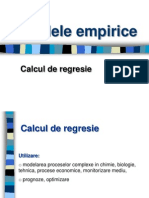 Cursul 4 - Calcul de regresie - Modele Empirice