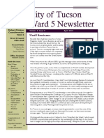 Councilmember Richard Fimbres - Ward 5 April 2013 Newsletter