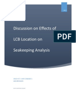 Discussion on Effects of LCB Location On Seakeeping Analysis