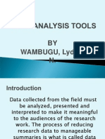 Data Analysis Tools.