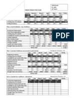 STATISTICS TOOL FOR THREE DIFFERENT PRODUCTION PLANS