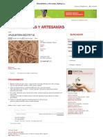 Manualidades y Artesanías _ Aplique para escote T 42 _ Utilisima