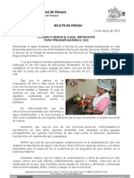 13/03/13 Germán Tenorio Vasconcelos clorar o Hervir El Agua, Importante Para Prevenir Diarreas Sso