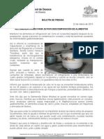 22/03/13 RECOMENDACIONES PARA EVITAR DESCOMPOSICIÓN DE ALIMENTOS, SSO
