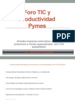 Grandes Empresas Externalizan Procesos Productivos a Pymes Especializadas