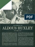 Aldous Huxley, Entrevista. Caballero Abril 1966.