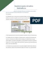Pre actuadores para circuitos hidráulicos