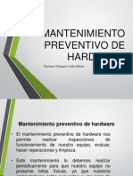 Mantenimiento Preventivo Hardware