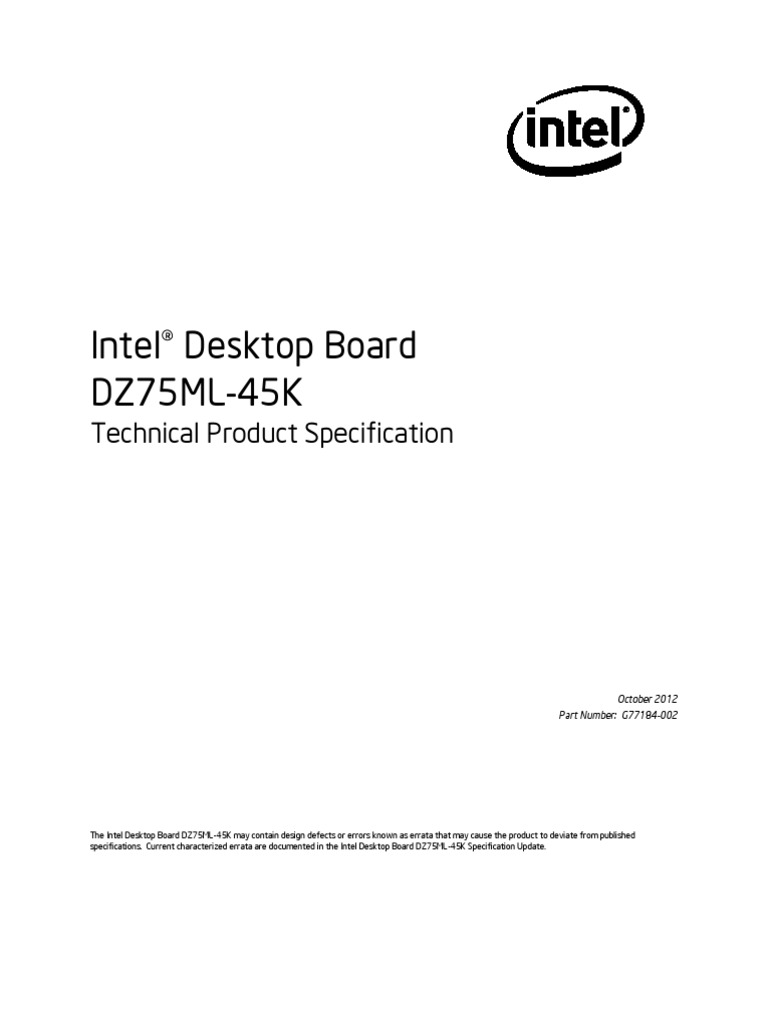 Intel Dz75ml