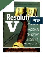 RESOLUTIVOS DEL V CONGRESO NACIONAL DE EDUCACIÓN CNTE