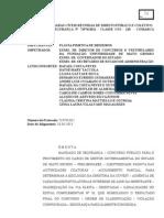 ACÓRDÃO DO MANDADO DE SEGURANÇA DO CONCURSO DE GESTORES - MT