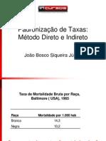 Padroniza+º+úo de Taxas