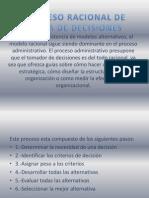 2.1.3 Proceso Racional de Toma de Decisiones