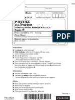 Edexcel IGCSE May 2012 Physics Paper-1