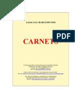 Carnets de Lucien Levy Bruhl