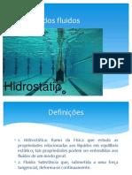 Estática dos fluidos