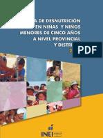Mapa de Desnutricion 2009