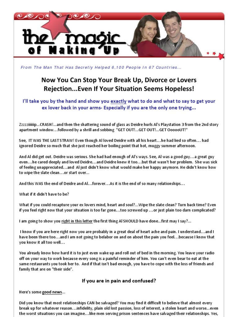 The Magic of Making up | Love | Mind