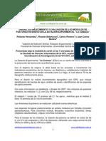 Diseno, Establecimiento y Evaluacion de Los Modulos de Pastoreo Intensivo en La Estacion Experimental La Cumaca