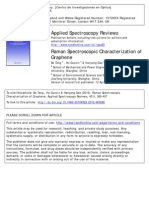 Raman Spectroscopic Characterization of Graphene