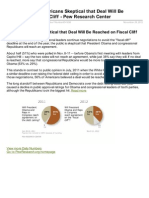 Daily Number Americans Skeptical That Deal Will Be Reached on Fiscal Cliff Pew Research Center