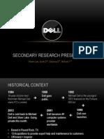 Dell Secondary Research Presentation