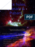 Black Holes, Quasars & Pulsars