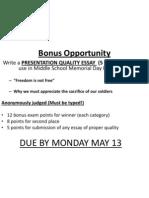 Bonus Opportunity