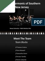 Philharmonic of Southern New Jersey  PR Plan