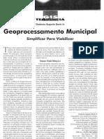 AM010. 1996 Geoprocessamento Municipal - Simplificar Para Viabilizar