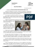 07/02/13 Germán Tenorio Vasconcelos  Disminuyen Casos de Infecciones Respiratorias Sso