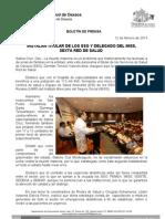 12/02/13 Germán Tenorio Vasconcelos instalan Titular de Los Sso y Delegado Del Imss, Sexta Red de Salud