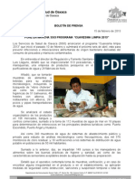 15 /02/13 Germán Tenorio Vasconcelos pone en Marcha Sso Programa Cuaresma Limpia 2013