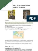 Justiniano y la recuperación del Imperio Romano