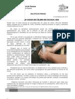 21/02/13 Germán Tenorio Vasconcelos 14 AÑOS SIN CÓLERA EN OAXACA, SSO