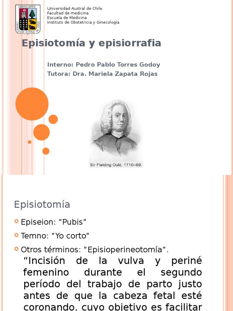 que es la episiotomia y episiorrafia
