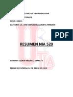 Resumen NIA 520