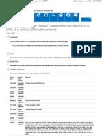 Excel Lumia 520 Help