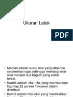 Statistik I - Ukuran Letak