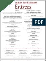 Sendik's Catering Entrees & Sides