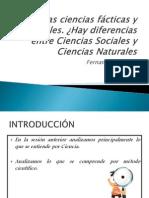 01 Las Ciencias Facticas y Formales